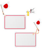 Japan Sport Message Frame with Flag. Vector - Japan Sport Message Frame with Flag. Set of Two Royalty Free Stock Photography