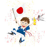 Japan-Sportfreund Stockfoto