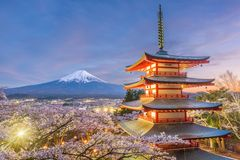 Japan in Spring Season Royalty Free Stock Photography