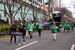 Japan ståtar för Sts Patrick dag Arkivfoto