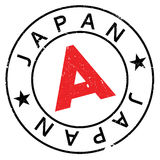 Japan stamp rubber grunge Stock Photo