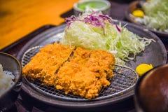 Japan-stil grisköttkotletter royaltyfria bilder