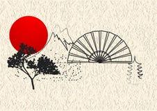 Japan stilbeståndsdel royaltyfri illustrationer
