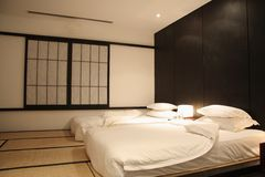 Japan style bedroom Royalty Free Stock Photo