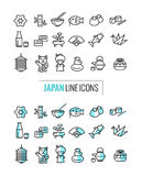 Japan 2 style icons Set. Stock Images