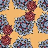 Japan styled mandalas endless seamless wallpaper Royalty Free Stock Images