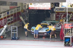 Japan Super GT 2009 - Team Avanzza Rosso Royalty Free Stock Photos