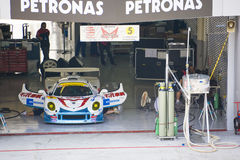 Japan Super GT 2009 - Team Mach Pit Garage Royalty Free Stock Photo