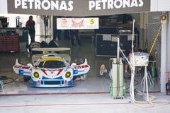 Japan Super GT 2009 - Team Mach Pit Garage Royalty Free Stock Photo