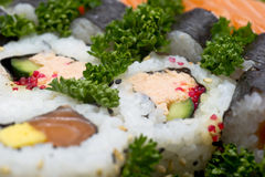 Japan Sushi background Royalty Free Stock Images