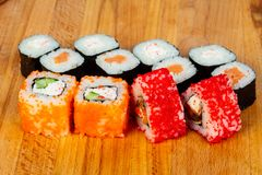 Japan sushi and roll Stock Images