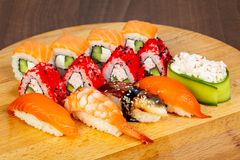 Japan sushi and roll Royalty Free Stock Photo