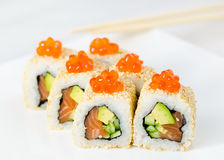 Japan sushi roll . Stock Images