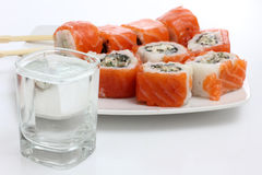 Japan sushi and sake Stock Photo