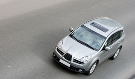 Japan suv isolated on road. Drives rides speed on road Stock Photography