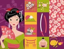 japan symbol Royaltyfri Foto