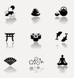 Japan symbolsuppsättning Fotografering för Bildbyråer