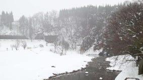 Japan Takayama heavy  Snowing Royalty Free Stock Photos