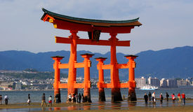 japan TARGET326_0_ torii Miyajima Zdjęcie Royalty Free