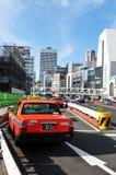 japan taxar tokyo Arkivfoto