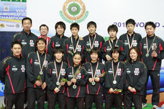 Japan team Both Men and Women Stock Images