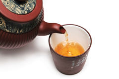 Japan teapot with a cup Stock Photos