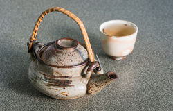 Japan teapot and cup Stock Photos