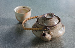 Japan teapot and cup Royalty Free Stock Photo