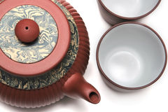 Japan teapot with two cups Stock Photo