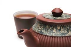 Japan-Teekanne mit einem Cup Stockfoto