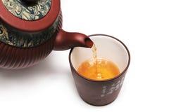 Japan-Teekanne mit einem Cup Stockfotos