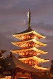 Japan tempel Arkivfoto