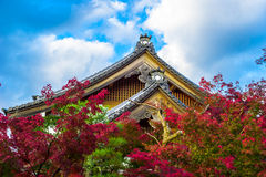 Japan tempel. Royaltyfria Foton