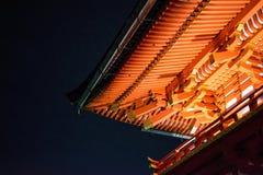 Japan-Tempel nachts Lizenzfreie Stockfotos