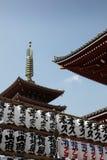 japan tempel tokyo Arkivbild