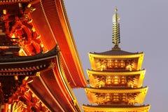 Japan temple , Asakusa Sensoji Stock Photo