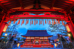 Japan temple. The beauty of the night temples in Japan Stock Photo