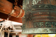 Japan temple bell Stock Photo
