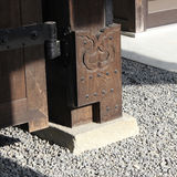 Japan temple door. Unique temple door design of japan culture Stock Image