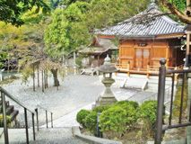 Japan Temple and garden in kyoto Royalty Free Stock Photo