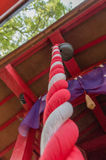 Japan temple gong Royalty Free Stock Photos