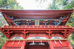 Japan temple. Red shrine holy Stock Photography