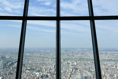 Japan Tokyo city top view from skytree tower. Japan Tokyo city top view from the skytree tower royalty free stock photography