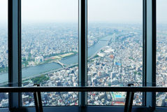 Japan Tokyo city top view from skytree tower Royalty Free Stock Photography