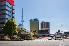 japan Tokyo L'area di Asakusa ` Dell'albero del cielo di Tokyo del ` della torre della TV Fotografia Stock Libera da Diritti