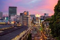 japan Tokyo Secteur d'Ueno le soir Photographie stock