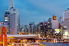 japan Tokyo Secteur d'Ueno le soir Photographie stock libre de droits