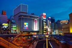 japan Tokyo Secteur d'Ueno le soir Image libre de droits