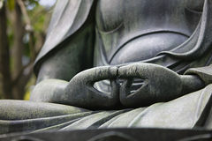 Japan Tokyo Senso-ji Buddha hands close-up Royalty Free Stock Photo