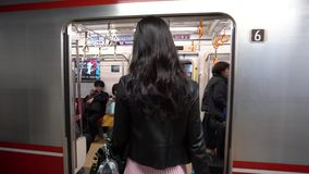 Japan- - Tokyo- - Shinjuku-Zug stock video footage